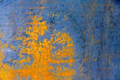 abstraia o fundo Superfície de metal envelhecida com manchas e borrões da oxidação imagem de stock royalty free