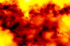 Abstraia o fundo vermelho e amarelo da obscuridade - Fotografia de Stock