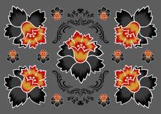 Abstraia o ornamento floral Fotografia de Stock Royalty Free