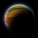 Abstraia o planeta com o alargamento do sol no espaço profundo Fotografia de Stock Royalty Free