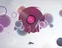Abstraia o registro de vinil para o DJ ilustração royalty free