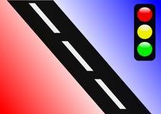 Abstraia o sinal de tráfego ilustração royalty free