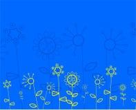Abstraia o teste padrão floral ilustração stock