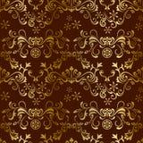 Abstraia o teste padrão marrom floral sem emenda ilustração do vetor
