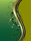 Abstraia ondas com ornamento floral Imagem de Stock Royalty Free