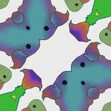 Abstraia pássaros as cores e os formulários dos pássaros ilustração royalty free