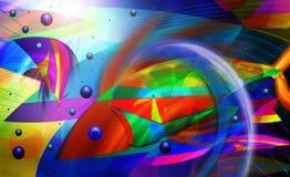 Abstraia peixes Imagens de Stock
