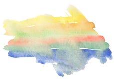 Abstraia a pintura da aguarela. Fotografia de Stock