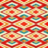 Abstraia polígono coloridos no teste padrão sem emenda do efeito retro do grunge do estilo Fotografia de Stock Royalty Free