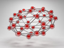Abstraia a rede da conexão Foto de Stock Royalty Free