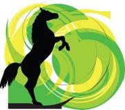 Abstraia silhuetas dos cavalos. ilustração royalty free