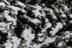 Abstraia a textura feita malha como linhas do branco cinzento e do preto do fundo Fotos de Stock