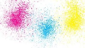 Abstraia três cores chapinham o teste padrão ilustração stock