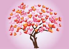 Abstraiga el árbol con el corazón Imagen de archivo libre de regalías