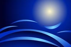 Abstraiga el azul stock de ilustración
