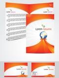 Abstraiga el concepto de diseño del folleto Imagen de archivo