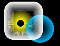 Abstraiga el conjunto del fondo del vector Fotografía de archivo