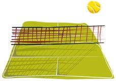 Abstraiga el cuadrado del tenis. ilustración del vector