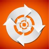Abstraiga el diagrama del ciclo vital del vector Fotos de archivo libres de regalías