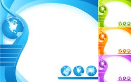Abstraiga el diseño con el globo. Imagenes de archivo