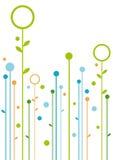 Abstraiga el diseño floral stock de ilustración