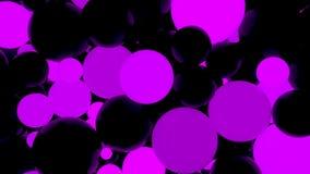 abstraiga el fondo Bolas luminosas violetas fluorescentes Partidos del tema Fotografía de archivo libre de regalías
