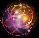 Abstraiga el fondo brillante del círculo Imagenes de archivo