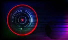 abstraiga el fondo círculos tecnología stock de ilustración