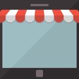 abstraiga el fondo Concepto de la tienda móvil Imágenes de archivo libres de regalías