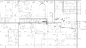Fondo abstracto de la arquitectura blueprint el plan de la casa con abstraiga el fondo de la configuracin almacen de metraje de vdeo malvernweather Image collections