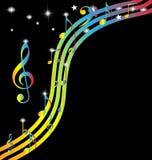 Abstraiga el fondo de la música Stock de ilustración