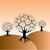 Abstraiga el fondo de los árboles Imágenes de archivo libres de regalías