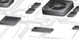 Abstraiga el fondo del circuito del vector de la placa madre stock de ilustración