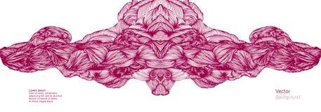abstraiga el fondo El vector agita el fondo dibujado mano Vector libre illustration