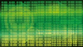abstraiga el fondo figuras Cuadrados y flechas verdes Diseño de Digitaces Foto de archivo libre de regalías