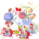 Abstraiga el fondo floral libre illustration