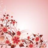 Abstraiga el fondo floral Foto de archivo libre de regalías