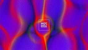 abstraiga el fondo halftone Punto caliente Estilo retro Ilustración del vector ilustración del vector