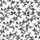 abstraiga el fondo Modelos escarchados sobre el vidrio Formas negras en el fondo blanco inconsútil fotografía de archivo