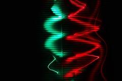 abstraiga el fondo Rojo y verde ilustración del vector