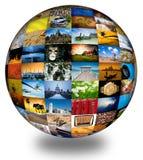 Abstraiga el globo de la fotografía Imagenes de archivo
