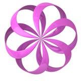 Abstraiga el icono de la flor 3d Imagen de archivo