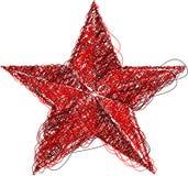 Abstraiga el icono rojo de la estrella Ilustración del Vector