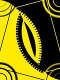 Abstraiga el marco amarillo negro libre illustration