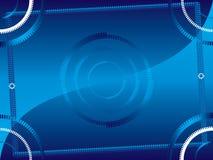 Abstraiga el marco azul 2 ilustración del vector