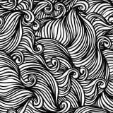 Abstraiga el modelo blanco y negro inconsútil Imagen de archivo