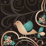 Abstraiga el pájaro Imagen de archivo libre de regalías