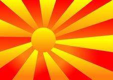 Abstraiga el resplandor solar ilustración del vector