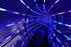 Abstraiga el túnel ligero Imágenes de archivo libres de regalías