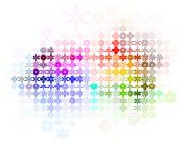 Abstraiga el vector del fondo del espectro de la flor Fotos de archivo libres de regalías